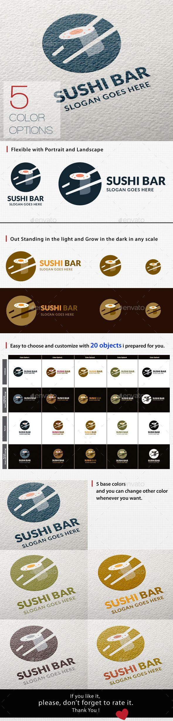 Sushi Logo — Vector EPS #food logo #Japanese Food • Available here → https://graphicriver.net/item/sushi-logo/11802912?ref=pxcr