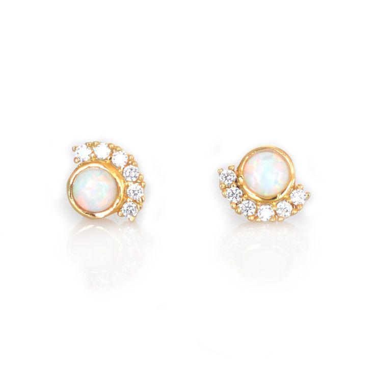 Opal & Diamond Parisian Sunset Studs