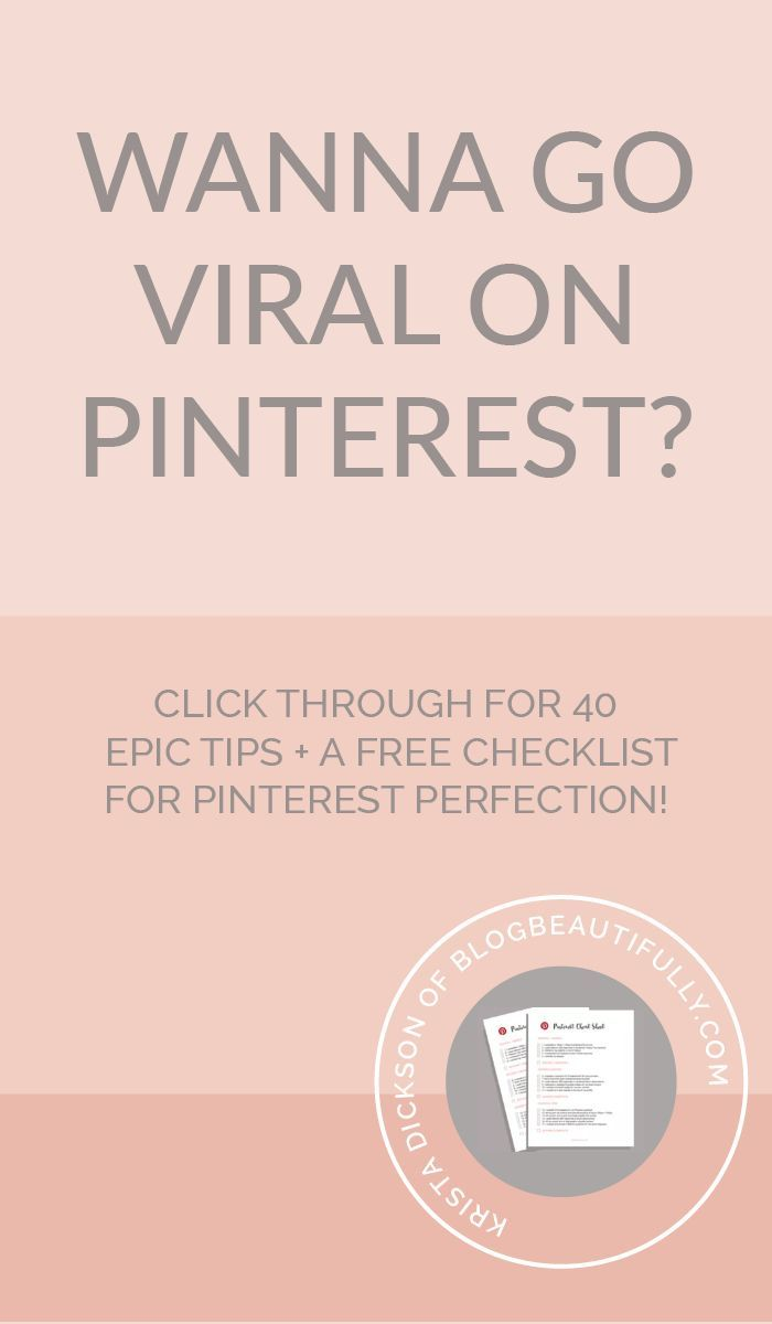 Ready to go viral on Pinterest? This 40-tip series will help you get there in no…