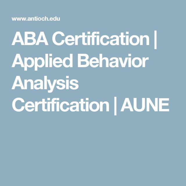 ABA Certification | Applied Behavior Analysis Certification | AUNE