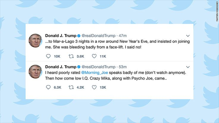 On Thursday morning, while MSNBC's & Morning Joe quote was on the air, President Trump posted a pair of hateful tweets about co-hosts Joe Scarborough and Mika Brzezinski.