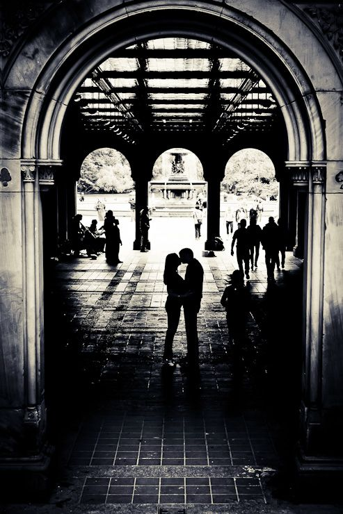 Dramatic silhouettes can be great for engagement shots. Photo by Fucci's Photos.