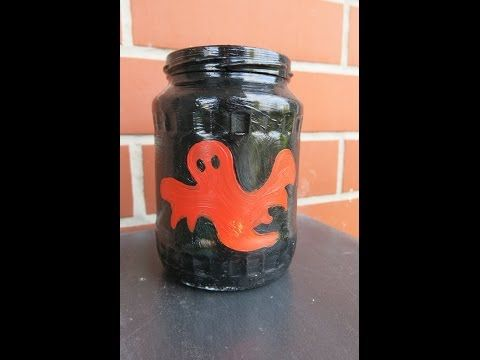DIY Hallowen Candle Jar. How to Make Easy Decorations for Halloween. - YouTube