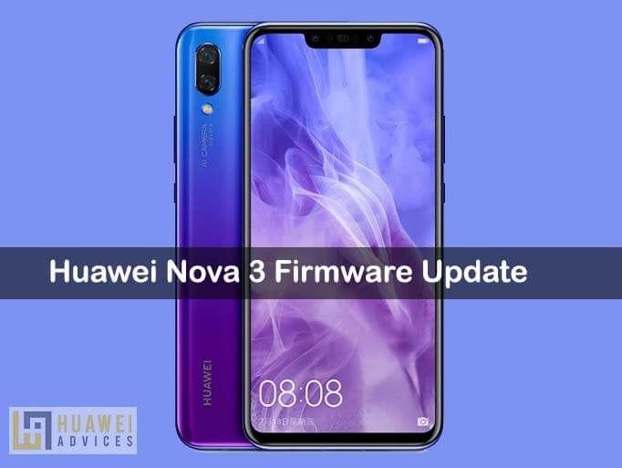Huawei Nova 3 gets a new software update