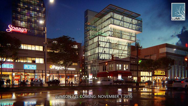 Stadt bei Nacht #Lumion # lumion7 #lumion6 #lumionpro #allplan #Gebäude #Stadt #City #Building #Architektur