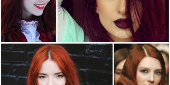 2017 Sıcak Kızıl Saç Rengi ve Modası