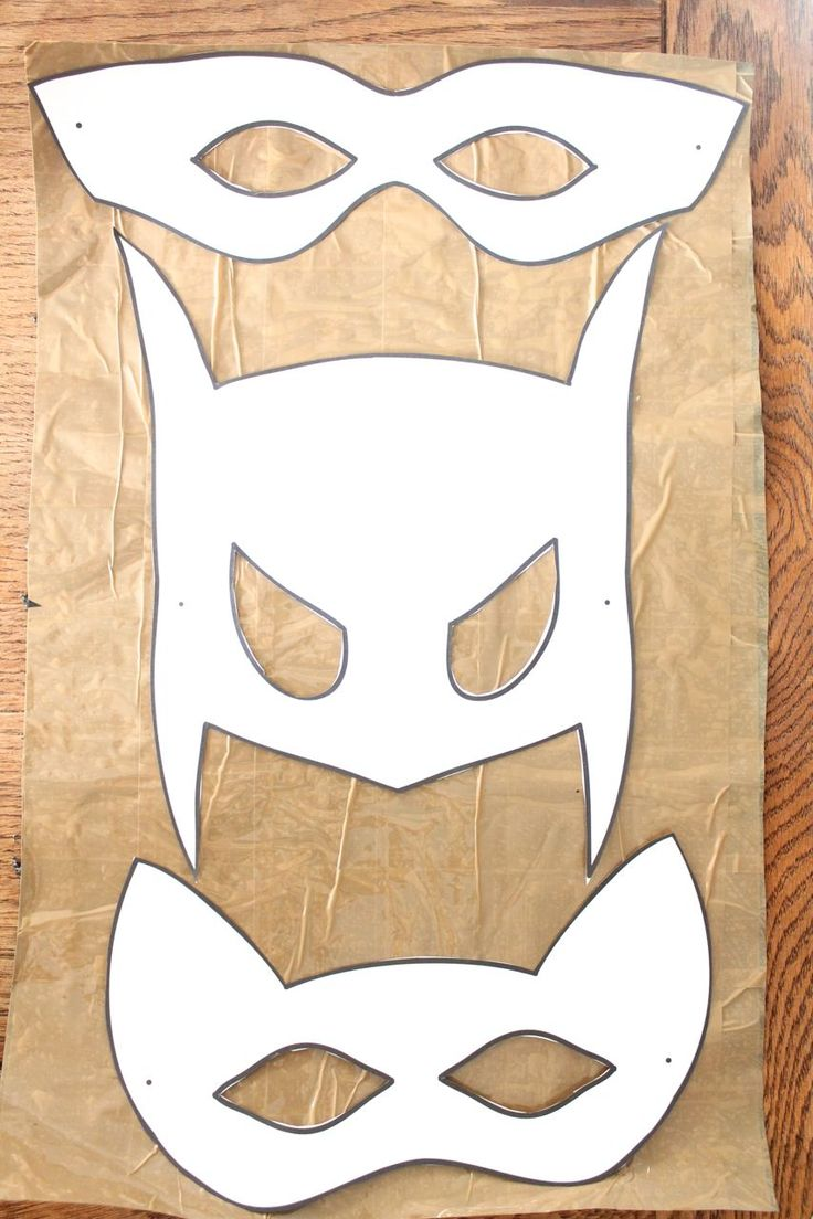 Halloween mask templates