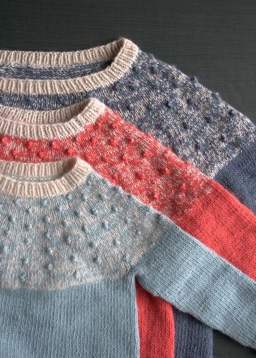 purl soho | products | item | bobble yoke sweater (purl soho)