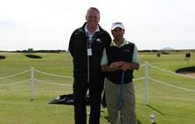 Miguel Angel Martin is pictured here with Glenn.    Miguel is a senior tour player, yes he is although he doesnt look old enough, sickening :-)    Miguel was a tour player on the Europen tour winning several events.    Glenn is Miguels Putting coach and advisor.
