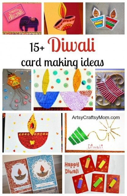 15+ Diwali card making ideas - Diya card , handmade card, deepavali cards for kids to make , fire cracker card