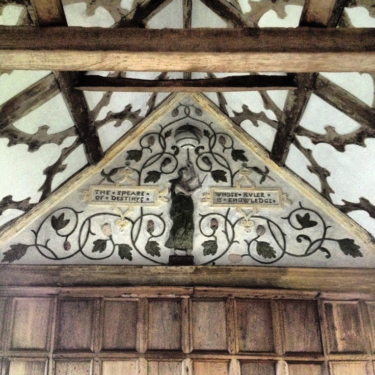 Panel at Little Moreton Hall, Cheshire A National Trust Property