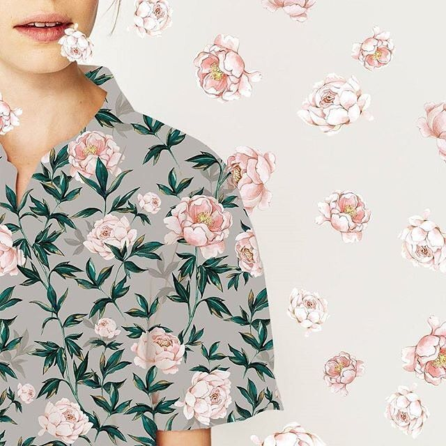 New floral pattern for #patternbank