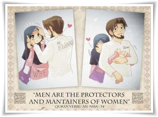 Islam does not oppress women, only treats them like the delicate flowers they are!