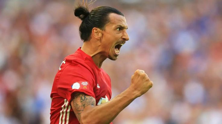 Zlatan after his competitive debut goal