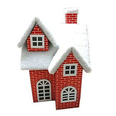 karácsonyi díszek karácsonyi hó ház piros, papír 2281632 2016 – €58.79