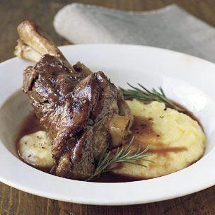 Braised Lamb Shanks with Rosemary (Williams Sonoma)