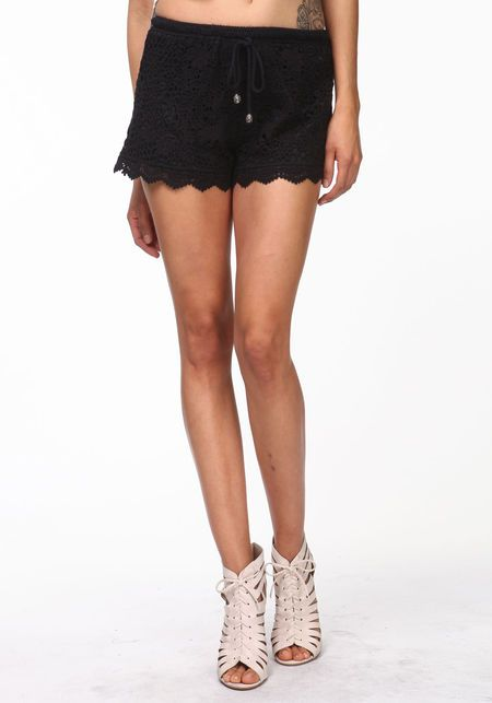 scalloped crochet shorts from love culture