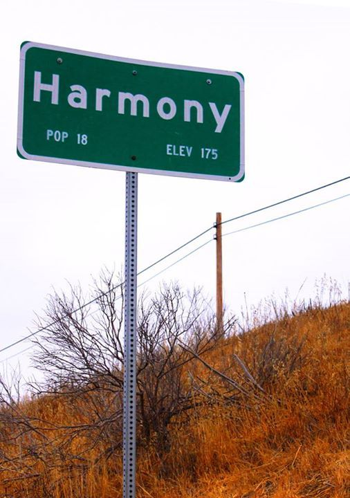 """We're taking a couple of """"down"""" days (but will be on the road nonetheless). In the meanwhile, here's a little something that people traveling along Highway 1 may have seen. Welcome to Harmony, CA. Population: 18, and home of some amazing wine!"""