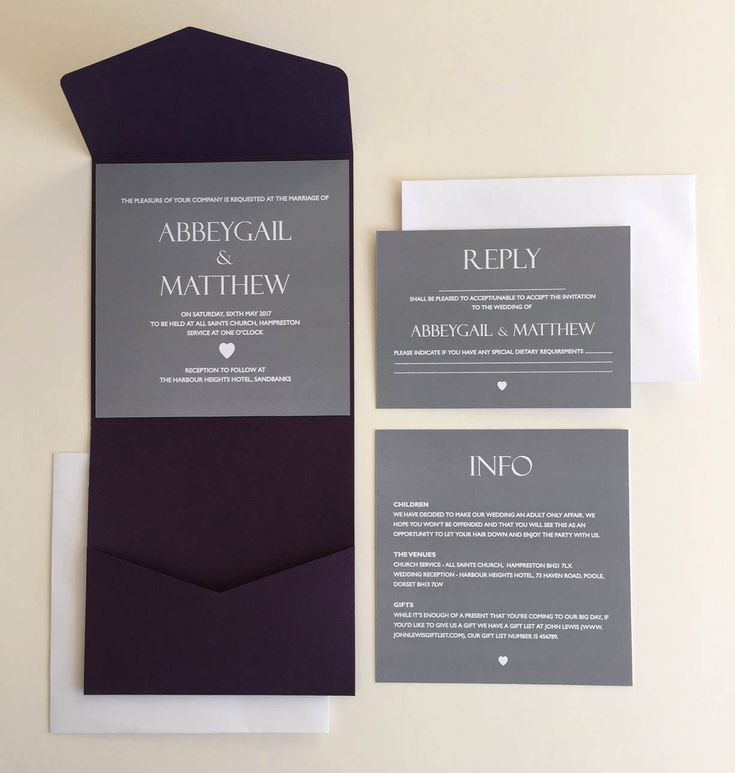 I now sell pocketfold invites! See my #etsy shop: Slate Grey and White Heart Design Purple Pocketfold Wedding Invitation / Info Card / Reply Card http://etsy.me/2D8TuQJ #weddings #invitation #purple #grey #simpleinvitation #detailscard #rsvpcard #infocard #replyca