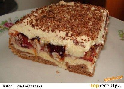 Švestkové kostky s vanilkovým krémem recept - TopRecepty.cz