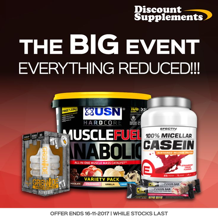 EVERYTHING REDUCED - Amazing value protein, bars & sports supps. Shop www.discount-supplements.co.uk #bodybuilding #workout #protein #muscle #gym #training #sports