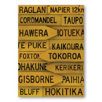 Red Ink Design Canvas Print – NZ Town Signs Large | Pohutukawa Gallery