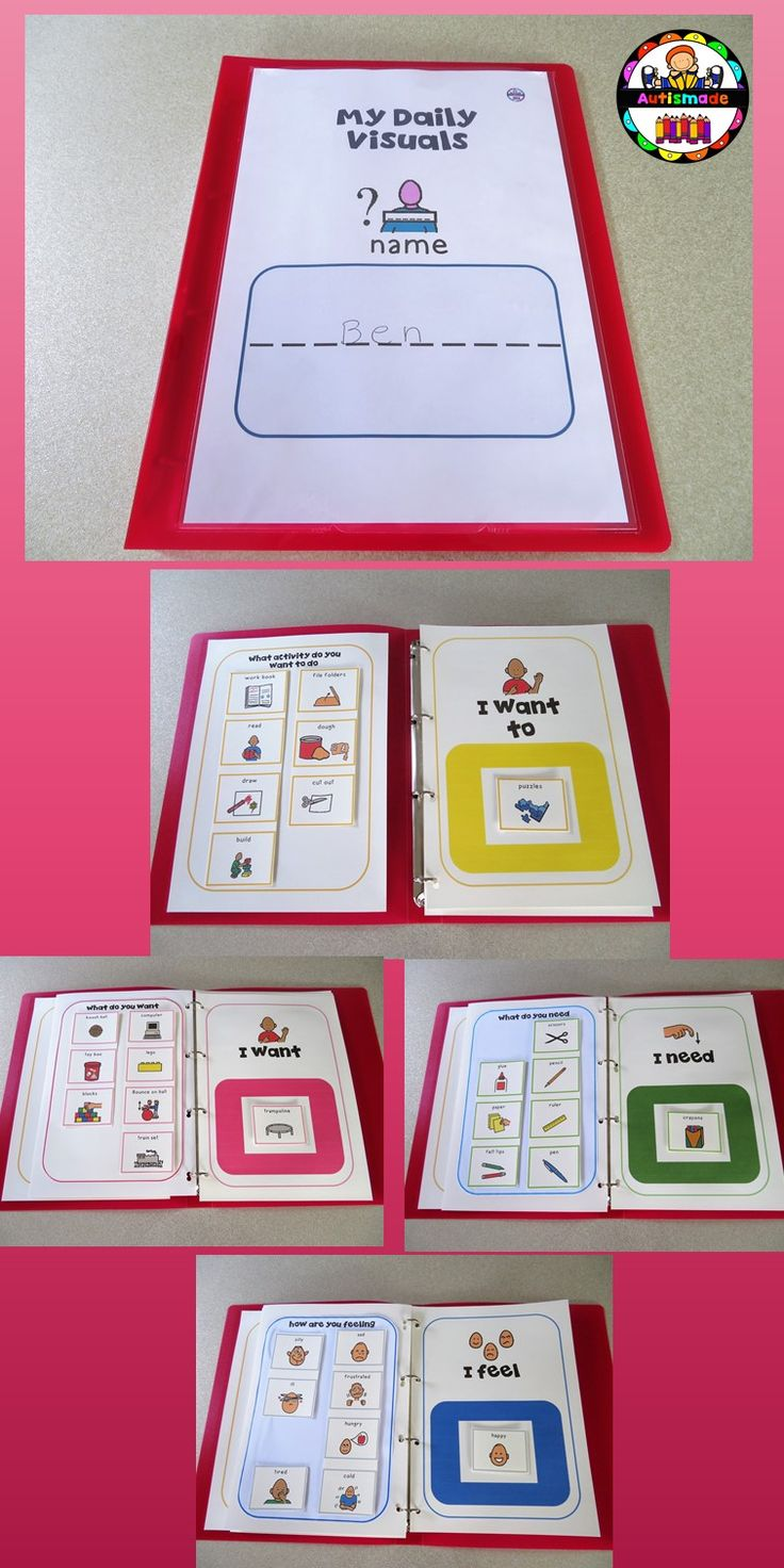 Students can use their Daily Binders to aid Communication in class.