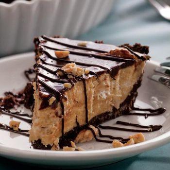 Chocolate Peanut Butter Silk Pie