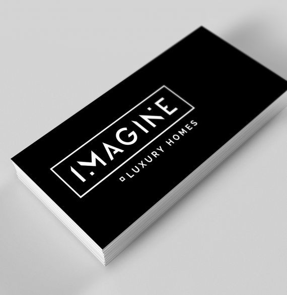 Imagine Luxury Homes logo, stationery and business card design. #developer #homebuilder #newhomeconstruction #showhomes #residential #realestate #GreaterToronto #company Branding and web design by #Studiothink / #Vancouver, BC #SurreyBC #branding #design #stationery #brochure #website #webdesign #creative #agency