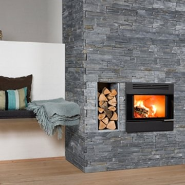 Aduro 5 Built-in Fireplace-Black