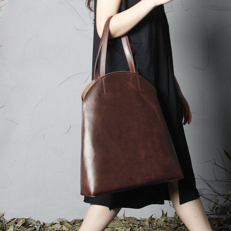 yuuta market leather tote bag