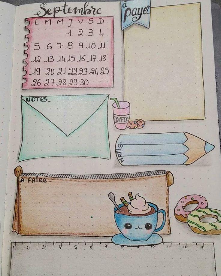 1ere page de septembre dans mon bujo... #bujofr #bulletjournal #illustration…