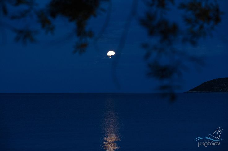 #Myrtoon #View #Poulithra by night #Leonidio #Greece photo © Vicky Lafazani