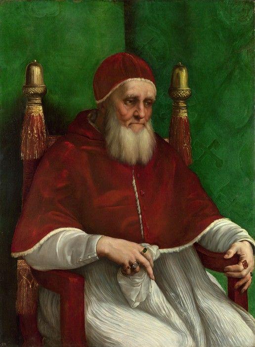 Рафаэль - Портрет папы Юлия II. Часть 6 Национальная галерея
