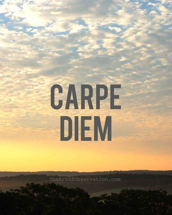 Carpe Diem Motivational Quotes Life Sunrise photograph by theartofobservation, $25.00