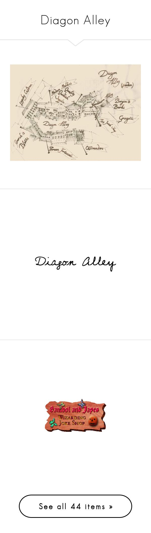 """""""Diagon Alley"""" by sunrise21 ❤ liked on Polyvore featuring harry potter, backgrounds, hogwarts, quotes, words, diagon alley, filler, magic, hp and pictures"""