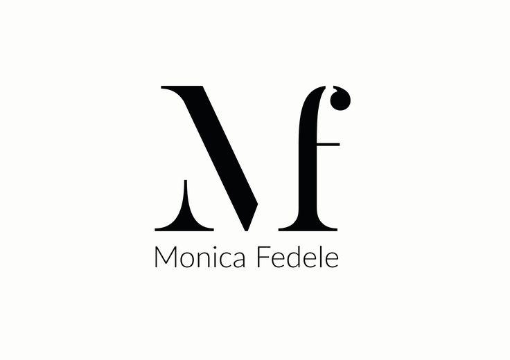Mf logo design, mf logo monica fedele