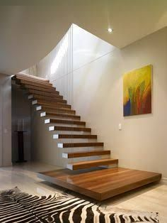 timber floating stairs - Google Search
