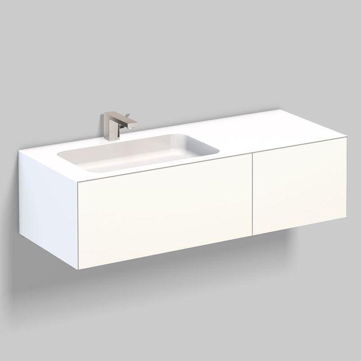 Die besten 25+ Weißer Waschtisch Ideen auf Pinterest - badezimmerschrank mit waschbecken