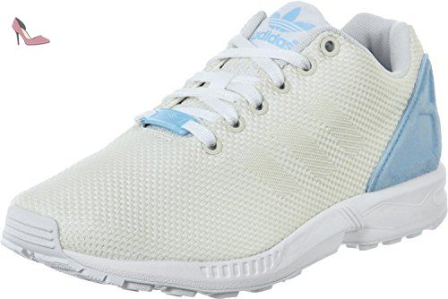 adidas ZX FLUX DECON W B34032 women sneaker in white, Taille:38 2/3