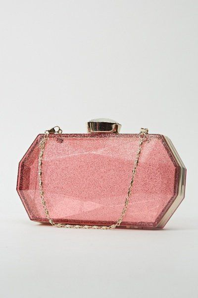 Glittery Transparent Clutch Bag - Blue or Purple - Just £5