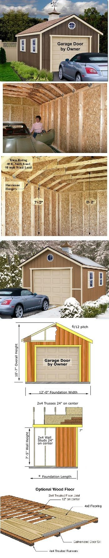 Sierra 12'x24' Ezup Best Barn Wood Garage Kit