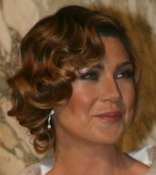 Flapper Hairstyles 19low bun with finger waves Ellen Pompeo Flapper Hairstyle Hair Styles 2013 New Hair