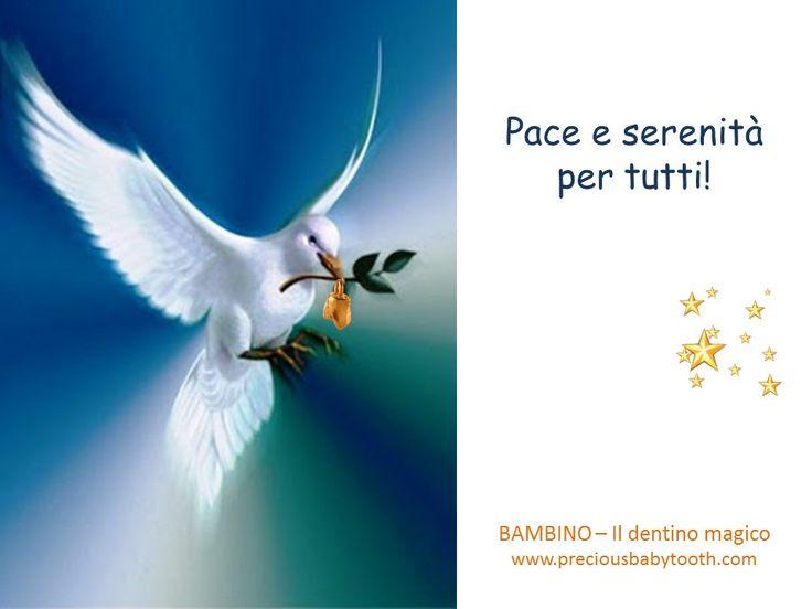"""Pace e serenità per tutti! Buona Pasqua dal """"dentino magico"""" BAMBINO - Il dentino magico www.preciousbabytooth.com #Pasqua #Colomba #Bambino #DentinoMagico #Ciondoli #Regali #Gioielli"""