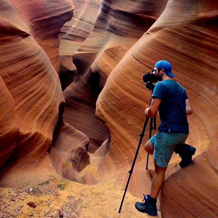 Shaun in the USA. Waterholes Canyon. Arizona.