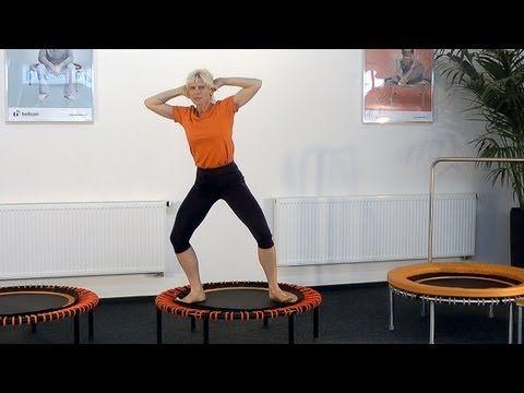 Übungsprogramm für Fitness und Koordination auf dem bellicon Trampolin - YouTube