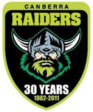 Canberra Raiders 30 Years logo