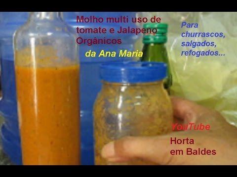 Como fazer molho de tomatinhos e pimenta jalapeno multi uso