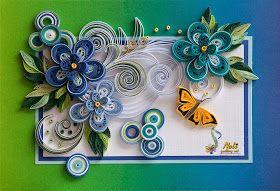 *QUILLING ~ Neli Quilling Art: Quilling cards /14.8 cm- 10.5 cm/ - summer