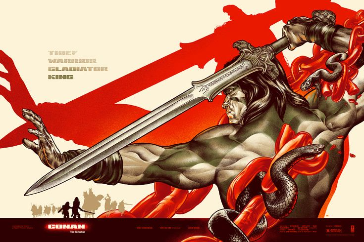 I want EVERY ONE of this guy's posters. Amazing work.  Conan the Barbarian : Martin Ansin, Illustrator | Illustration Portfolio